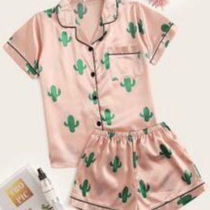 Shein silk pajama set